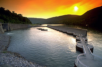 Raccoon Mountain Pumped-Storage Plant - Tailrace (TN River) of RMPS (TVA photo)