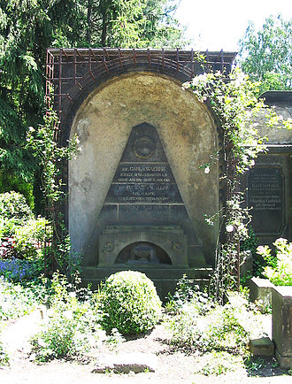 Karl Ivanovich Weber - Tomb of Weber, his wife Eugenie (1850–1921), and his son Ernst (1873–1917) in Radebeul