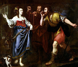 Women in the Bible - Rahab and the Emissaries of Joshua, 17th century