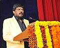 Ramdas Athawale addressing at the Global Seminar on Dr. B.R. Ambedkar and Constitutionalism.jpg
