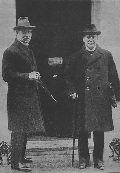 Ramsay MacDonald and Christian Rakovsky, Head of the Soviet diplomatic delegation. Feb 1924. Ramsay MacDonald Christian Rakovsky 1924.jpg