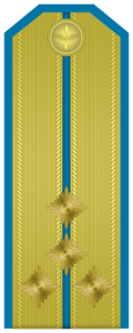 Rank insignia of Капитан of the Bulgarian Air forces.png