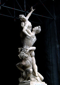 The Rape of the Sabine Women, a 1582 sculpture by Giambologna.