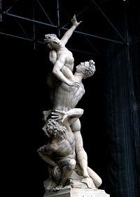 L'enlèvement d'une Sabine de Giambologna (1581-1583) Florence Italie