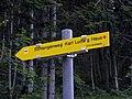 Rax - Wegweiser am Beginn des Schlangenwegs zum Karl-Ludwig-Haus.jpg