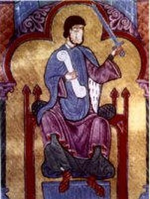 Raymond of Burgundy - Raymond in a miniature of the Tumbo A cartulary in the cathedral of Santiago de Compostela, the chief bishopric of his dominion.
