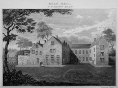 The old Read Hall in the 18th century
