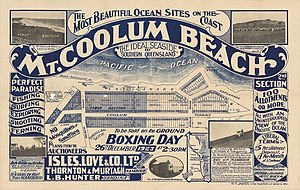 Coolum Beach, Queensland - Real estate map of Coolum Beach Estate, 1923