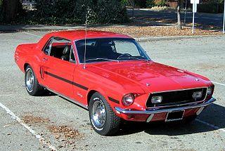 Classic Mustang Race Car Drawings