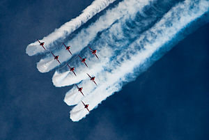 Red Arrows display at Portsmouth in July 2008 8.jpg