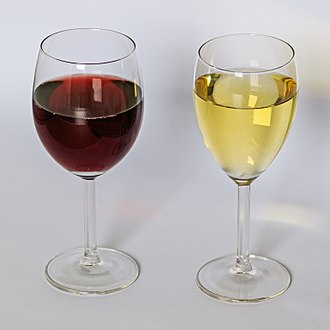 Wine - Glasses of red wine and white wine
