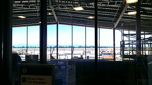 Redding Municipal Airport - A view of the expansion from inside the current terminal as of June, 2013
