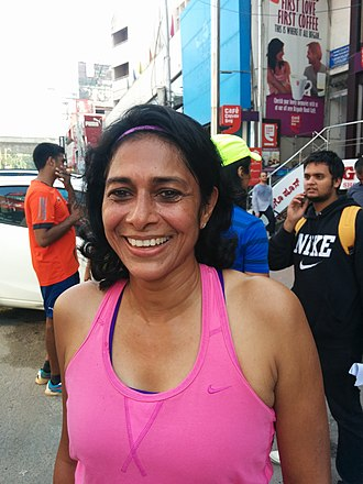 Reeth Abraham - Reeth Abraham in Bengaluru at a 10k run