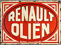 Renault Olien, Enamel advert sign at the den hartog ford museum pic-124.JPG