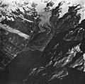 Rendu Glacier, rock covered tidewater glacier terminus and hanging glaciers, September 12, 1973 (GLACIERS 5826).jpg