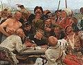 Reply of the Zaporozhian Cossacks (sketch, 1880-90, GTG) 2.jpg