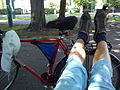 Rest cyclist in the Solacki-park, Poznan.jpg