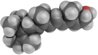Ball model of retinol