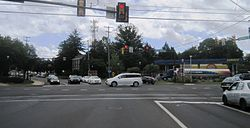 Center of Richboro at Almshouse Road (PA 332) and Second Street Pike (PA 232)