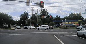 Richboro, Pennsylvania - Center of Richboro at Almshouse Road (PA 332) and Second Street Pike (PA 232)