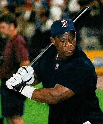 Rickey Henderson - Henderson with Boston in 2002