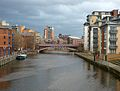 River Aire from Centenary Bridge, Leeds (2075732591).jpg