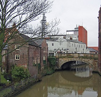 River Foss - The River Foss at York, looking upstream. The bridge is the Foss Bridge (1811–12), which links the streets of Fossgate and Walmgate.