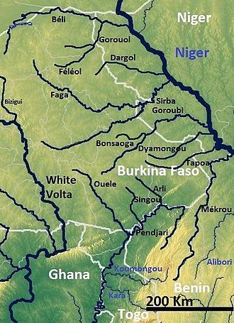 Sirba River - Image: River Niger Tributaries from Burkina Faso OSM