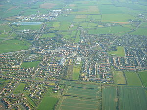 Stokesley - Aerial photo of Stokesley, looking southward
