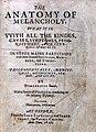 Robert Burton, The anatomy of melancholy... Wellcome L0027168.jpg