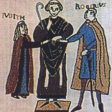 Roger I of Sicily and Judith d'Evreux.jpg