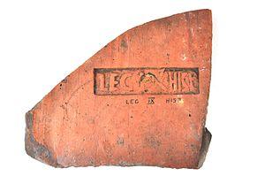 Legio IX Hispana - A stamp of the Ninth legion from the fortress at Caerleon