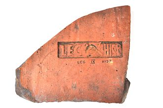 Legio IX Hispana - A stamp of the Ninth legion from the fortress at Caerleon in Wales.
