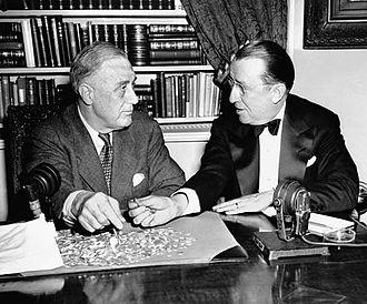 Basil O'Connor - Roosevelt with O'Connor (1944)