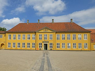 Roskilde Royal Mansion - The Palace Wing seen across the courtyard