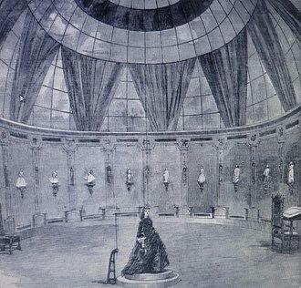 Photo sculpture - Willème's rotunda laboratory at 42 Avenue de Wagram in Paris