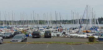Royal Victoria Yacht Club - Part of the docking area.