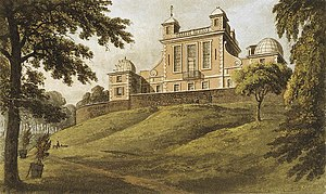 Royal Observatory, Greenwich - Flamsteed House in 1824