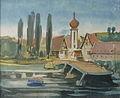Rudolf Heinisch, Landschaftsskizze - Donautal 6, ca. 1955.JPG