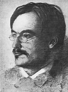 Rudolf Steiner um 1891/92, Radierung von Otto Fröhlich