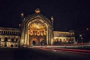 Rumi Darwaza - Rumi Darwaza during night. Heavy traffic all the time.