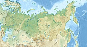 Map showing location in Russia