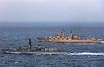 Russian cruiser Marshal Ustinov and HMS St Albans MOD 45165067.jpg