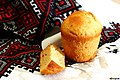 Russian paska bread Kulich without frosting and crumbles Русская пасха Кулич пасхальный хлеб без глазури.jpg