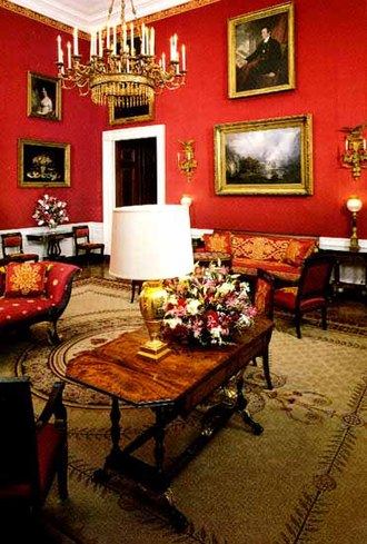 Committee for the Preservation of the White House - The White House Red Room before refurbishment during the administration of Bill Clinton.