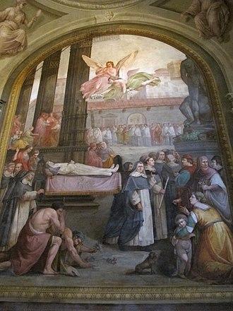 Maria Bagnesi - Painting depicting her funeral.