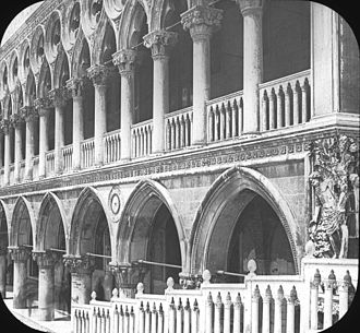 Doge's Palace - Palazzo Ducale, south colonnade, Venice, Italy. Brooklyn Museum Archives, Goodyear Archival Collection
