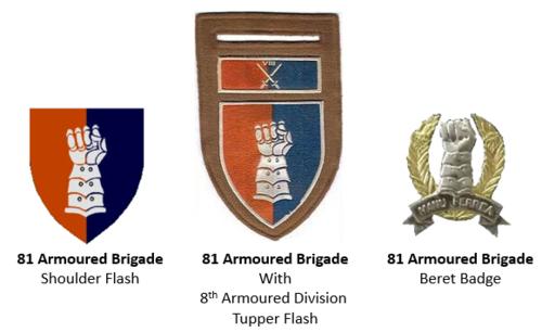 SADF era 81 Armoured Brigade insignia