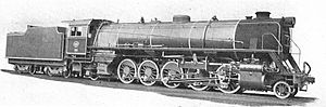 South African type HT tender - Type HT tender on Class 18, c. 1927