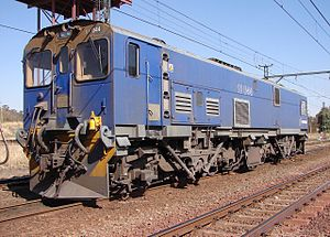 South African Class 10E - No. 10-044 at Klerksdorp, North West, 23 August 2007